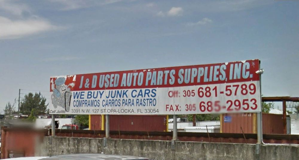 J And D Auto >> J D Used Auto Parts Florida Used Parts